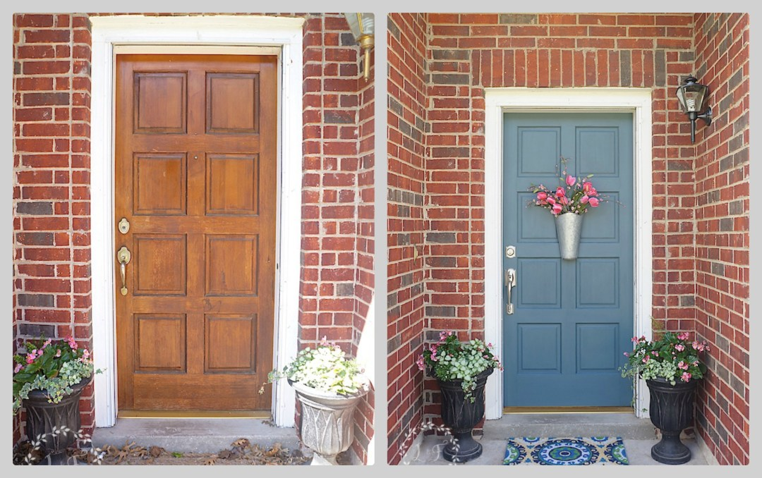 front door makeover using Fusion Mineral Paint