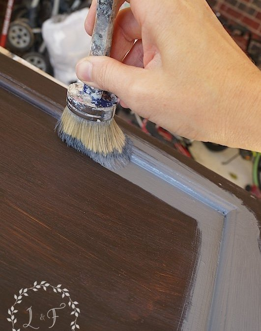 Painting the Island; DIY Kitchen Island Makeover Part 2