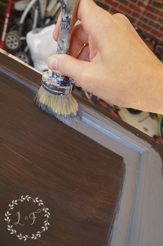 painting kitchen cabinets with Fusion Mineral Paint