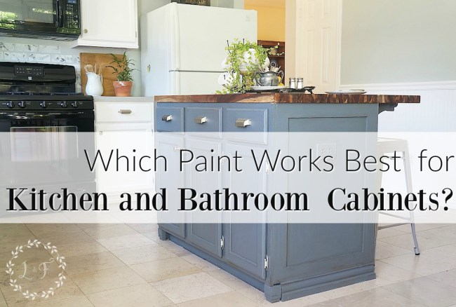 which is it? best paint use kitchen bath cabinets
