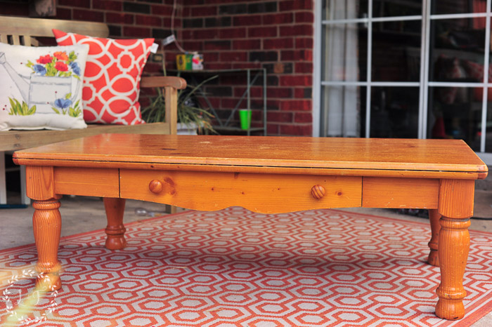 Say Hello To This Lovely Orange Pine Coffee Table I Picked Up At My Local  Thrift Store.