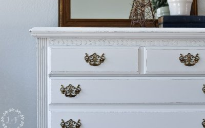 Chest of Drawers Makeover with Fusion Raw Silk