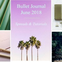 Bullet Journal June 2018 - TROPICAL  - Spreads & Tutorials