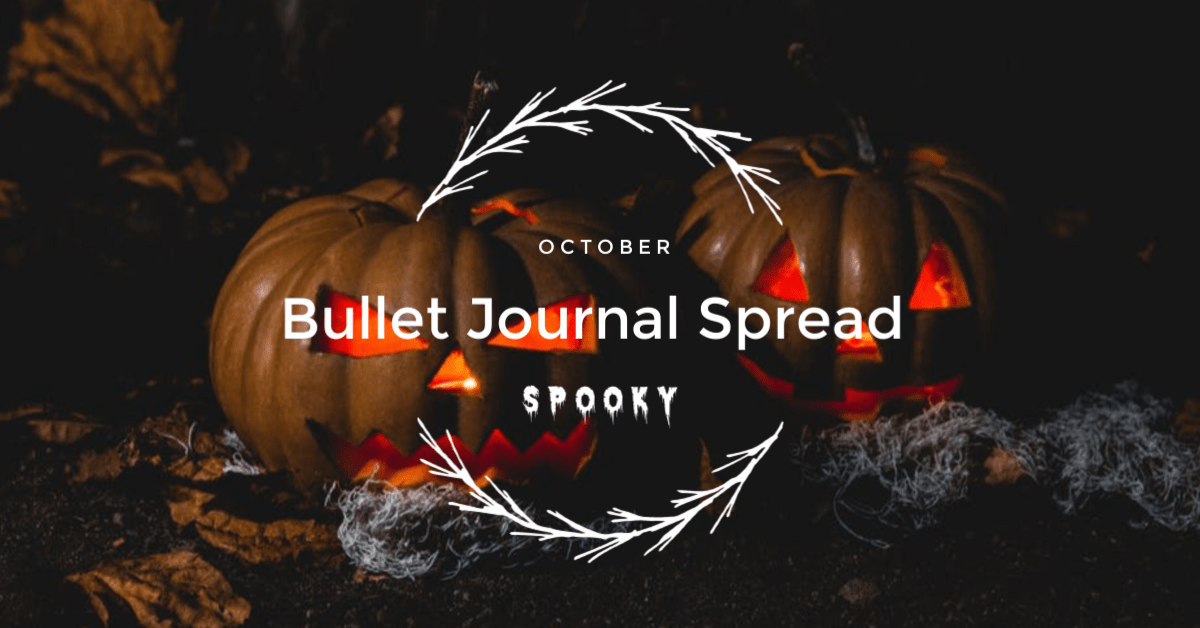 Bullet Journal Spread October – Spooky