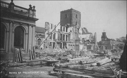 Trentham Hall - demolition in progress 1912