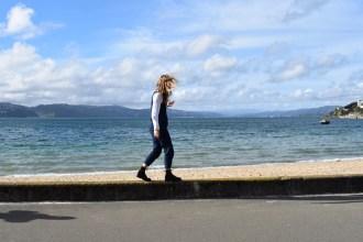 August in Wellington Josie at Beach