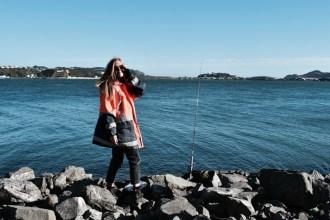 fishing at Evans bay wellington