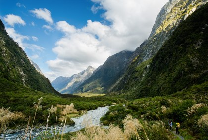milford track, sound, new zealand, great walk, hike, tramp, valley