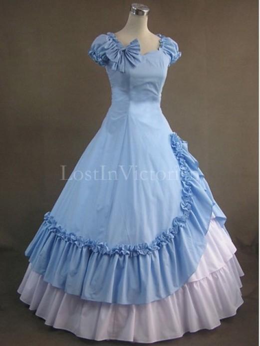 19th Century Victorian Civil War Period Dress Southern