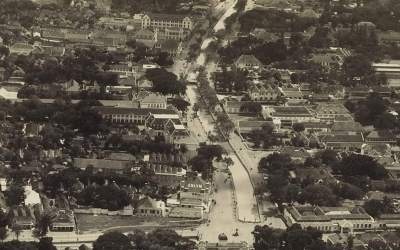 First aerial view of Jakarta 1924