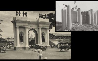 Demolition Amsterdam Gate 1950
