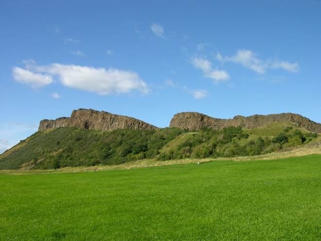 Arthur's Seat overlooking Edinburgh