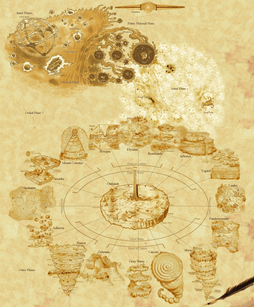 WorldBuilding the cosmology of Planescape