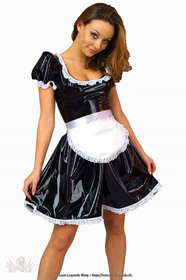 Maid Kostm Lack Kleid Halloween Kostme