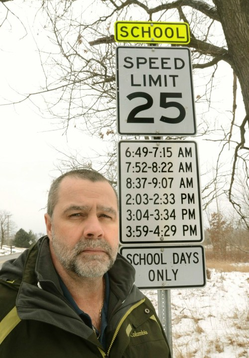 Oakland County School Speed Limit Sign