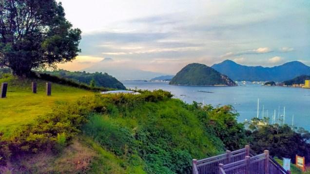 長浜城跡から見る富士山をZenFone3 Ultraで撮って補正。