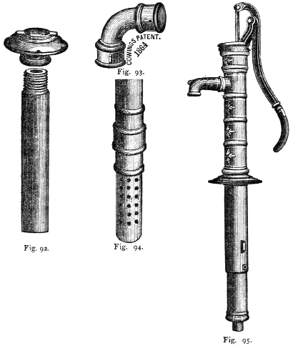 Iron couplings and foot valve