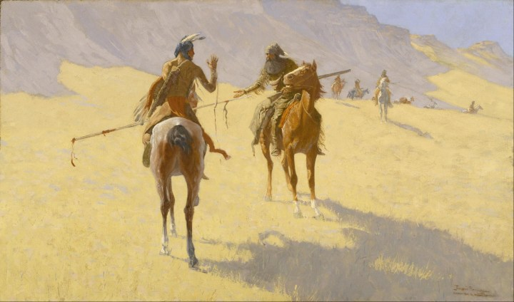 The Parley, Frederic Remington, 1903.
