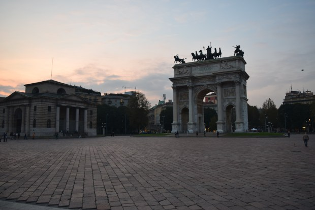 Arco della Pace, so beautiful at sunset