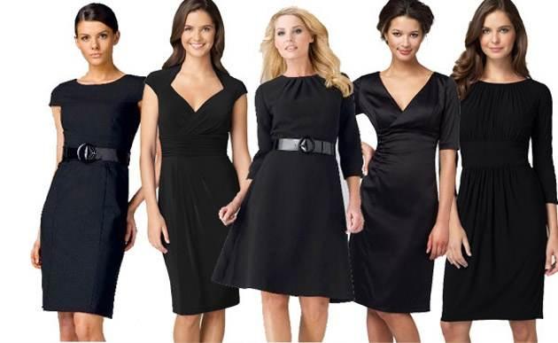 vestidos negros corto