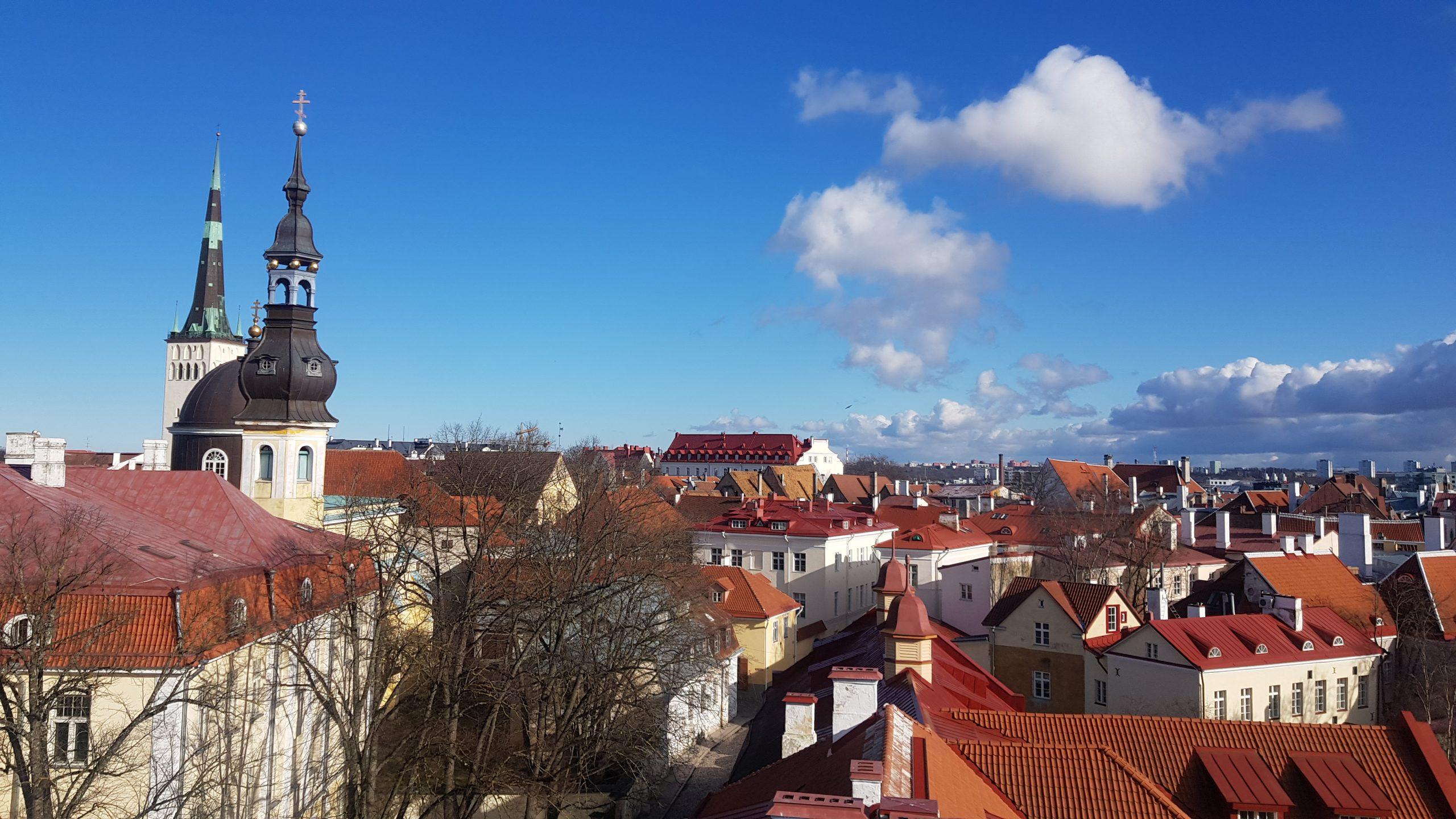 Vistas del casco antiguo de Tallin desde una torre