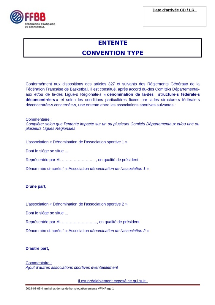 thumbnail of Entente (Hors CTC) convention type