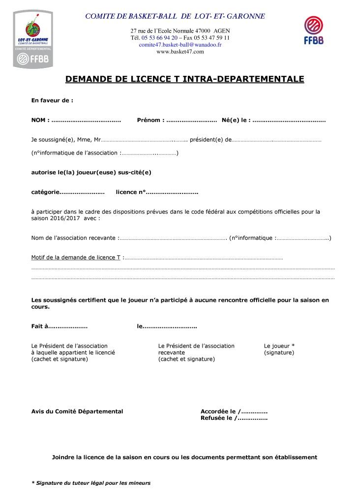 thumbnail of Demande de licence T intra-départementale