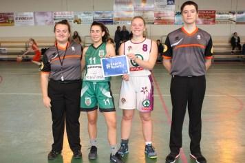 De gauche à droite: Blandine Argeles,Emma Pellizzari(Villeneuve),Emma Biason(Buzet/Le port),Alexandre Castelnau