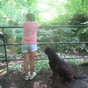 Mädchen Strickjacke pink hinten mit Rosi