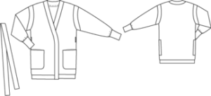 Strickjacke Burda Style Skizze Modell 111-092013