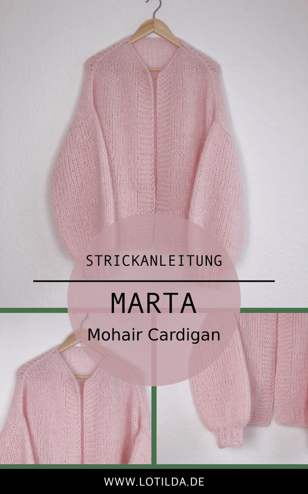 LOTILDA - MARTA Mohair Cardigan - Strickjacke mit Ballonärmel