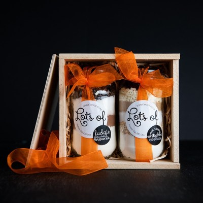 Cookie Ingredients Baking Gift set 2 Jar in Wooden Box Buy Online