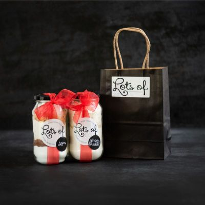 Cookie Ingredients Giftset 2 Jar in a Black Bag Buy Online