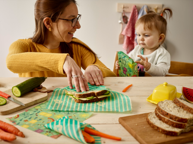 Beeswax Wraps Children Lunchtime wraps