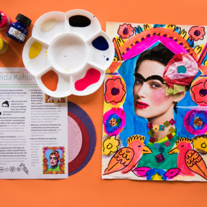 Lots of Lovely Art boxes for children Fantastic Faces art projects inspired by Frida Kahlo