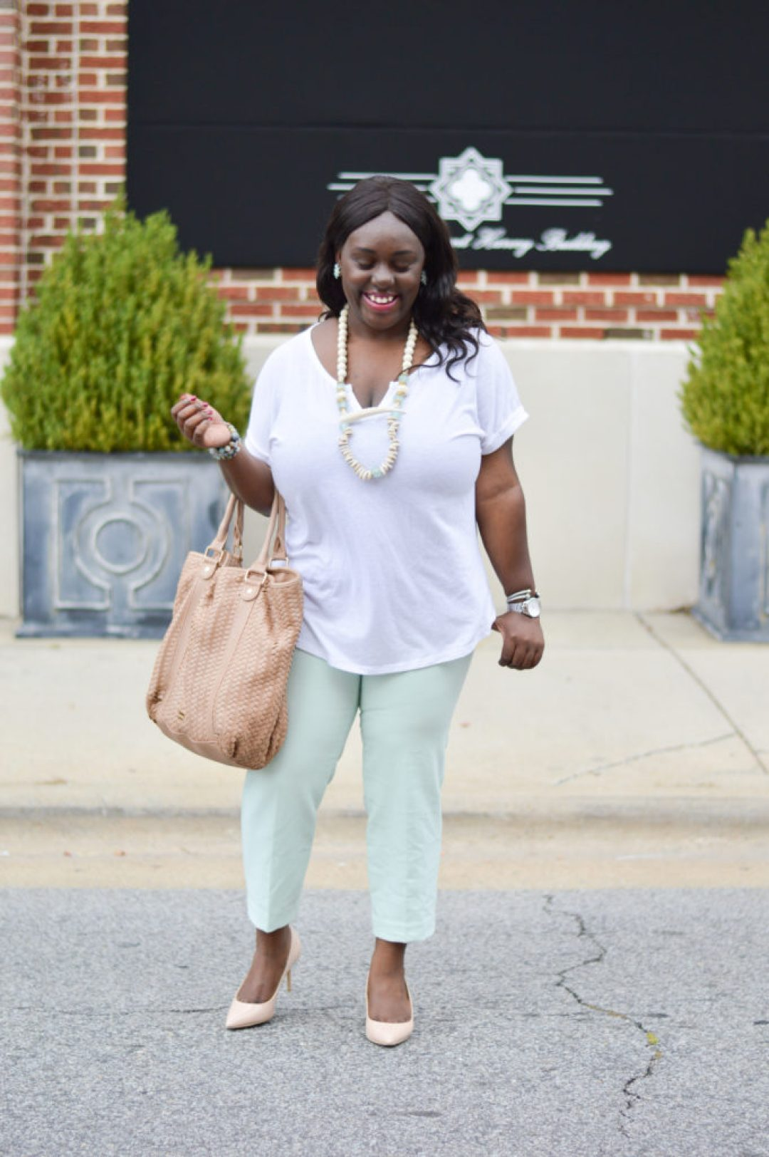old navy mint color work wear pants for young professionals and millennials women