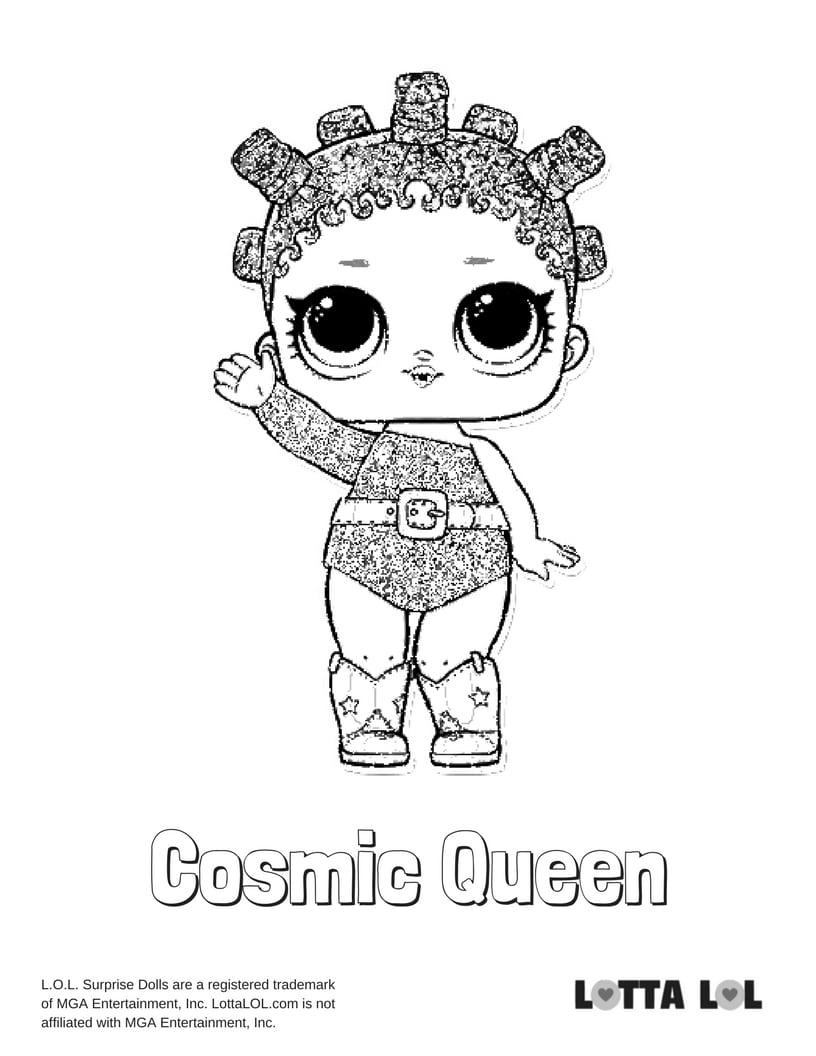Cosmic Queen Lol Surprise Doll Coloring Page Lotta Lol
