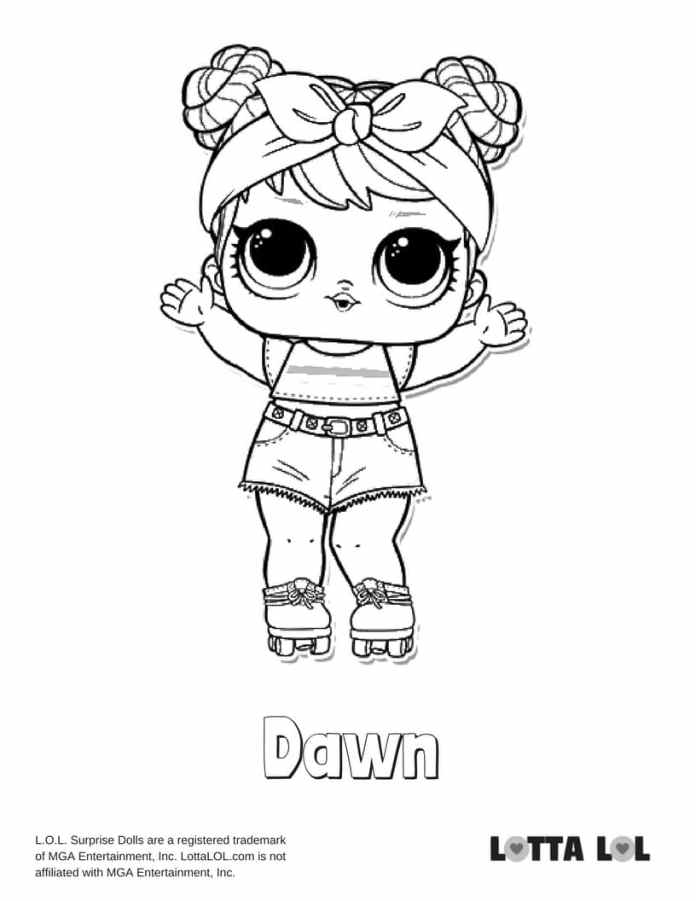 Dawn LOL Surprise Doll Coloring