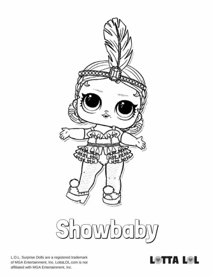 dusk lol doll coloring pages | Showbaby LOL Coloring Page | Lotta LOL