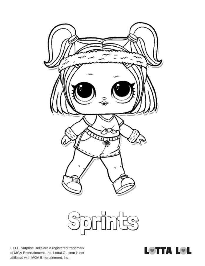 Sprints LOL Coloring Page Lotta