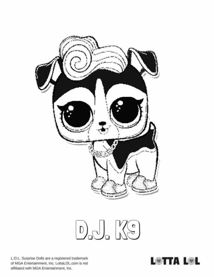 dj coloring pages | DJ K9 LOL Coloring Page | Lotta LOL