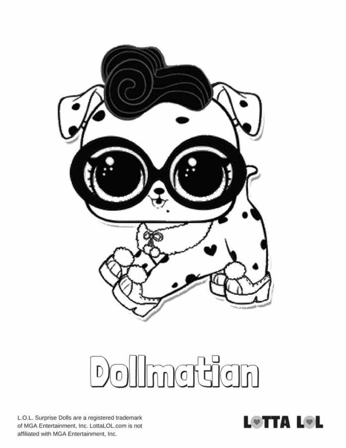 dollmatian lol coloring page | lotta lol