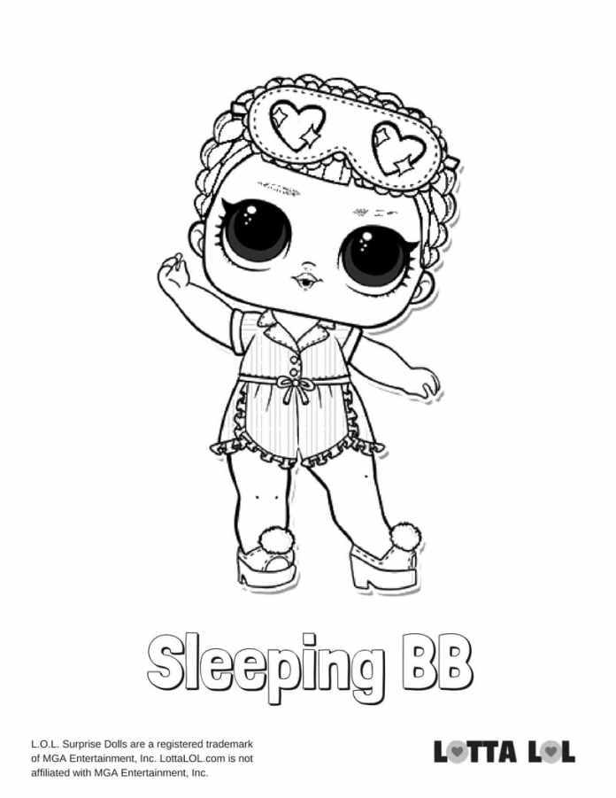 Sleeping BB LOL Surprise Doll Coloring