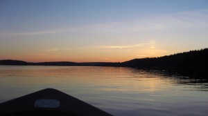 Summer evening boating
