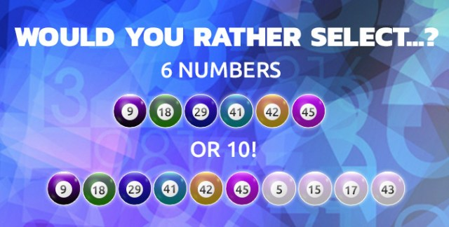 10 number lottery system