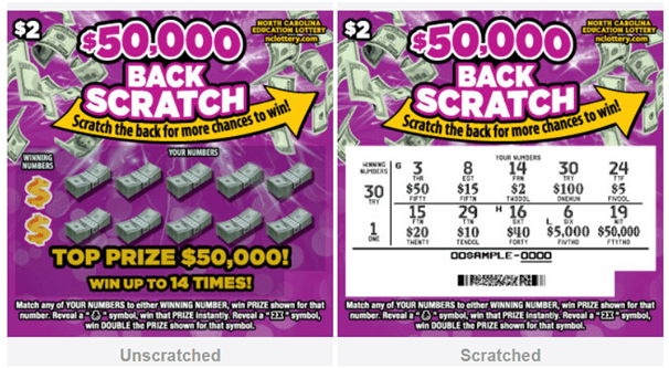 Back Scratch lotto- $2