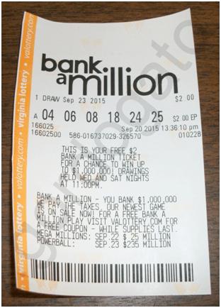 Bank a Million Ticket