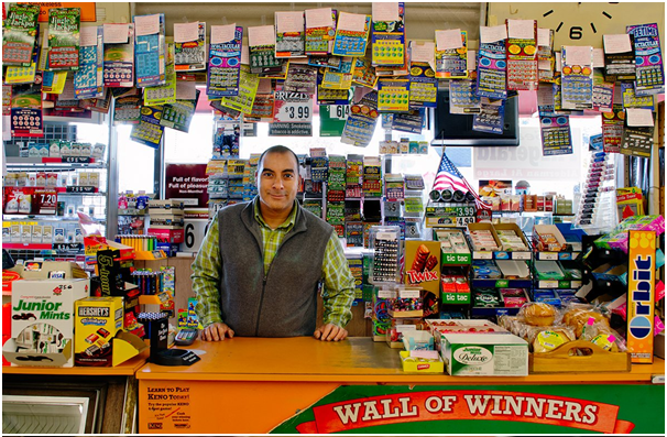 Lottery tickets at the retailer