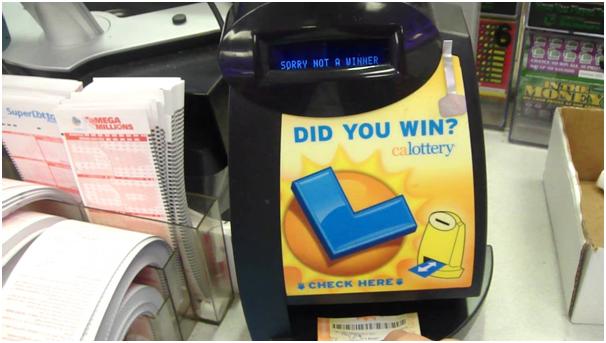 Lotto machines in USA to check lotto results