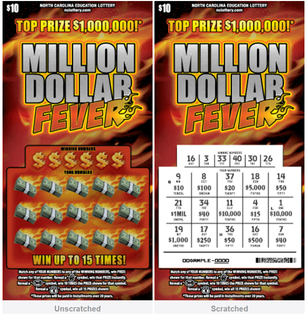 Miilion Dollar fever lotto